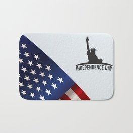 American background with space Bath Mat