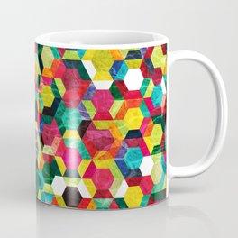Colorful Half Hexagons Pattern #02 Coffee Mug
