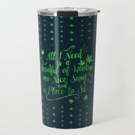 Weed-poetry Travel Mug