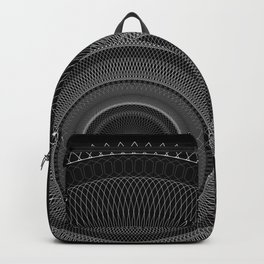Guilloche in the Dark Backpack