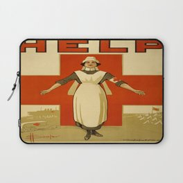 Vintage poster - Red Cross Laptop Sleeve