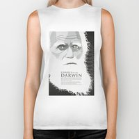 darwin Biker Tanks featuring Darwin by James Northcote