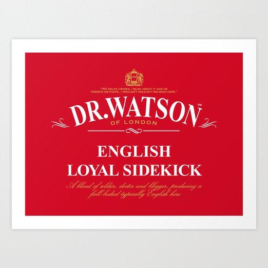 English Loyal Sidekick Art Print