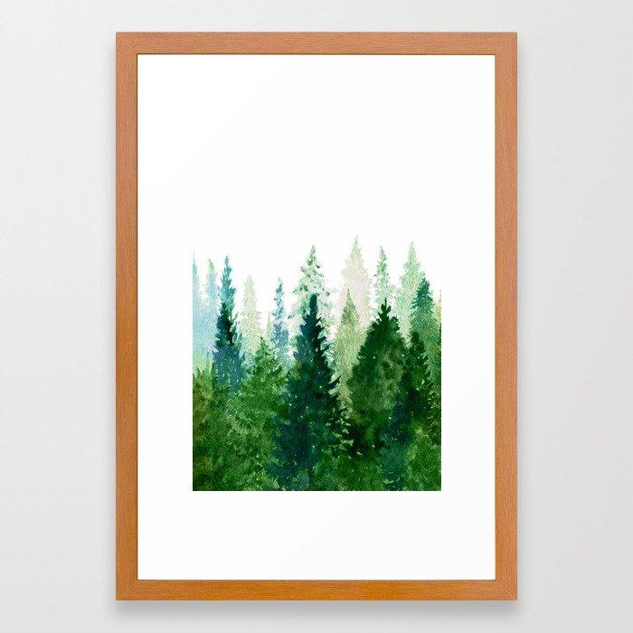 Pine Trees 2 Framed Art Print