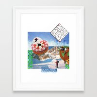 skiing Framed Art Prints featuring skiing by Studio 13