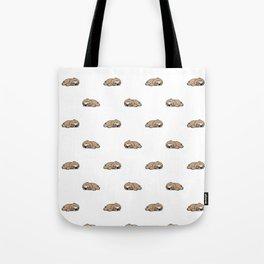 Sleeping Sloth Pattern Tote Bag