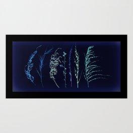 Winter Grass Art Print
