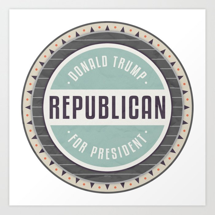 Trump For President Art Print