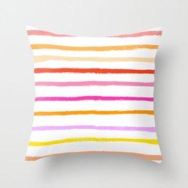 Warm Stripe Throw Pillow