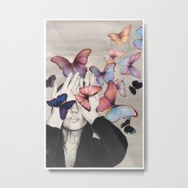 Rainbow Butterfly Art Metal Print