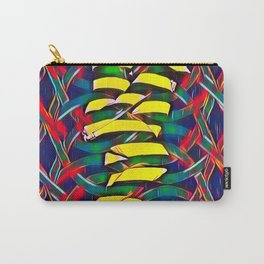 6825-LB Two Bodies Merge as One - Abstract Figurework Carry-All Pouch