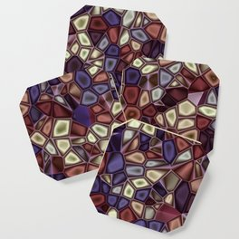Fractal Gems 01 - Fall Vibrant Coaster