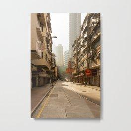 Dreamy empty street in Hong Kong Metal Print