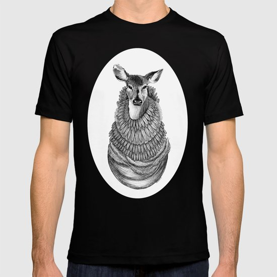 Feathered Deer.  T-shirt