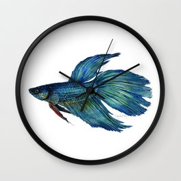 Mortimer the Betta Fish Wall Clock