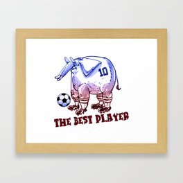 the best player elephant Framed Art Print