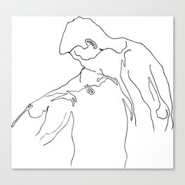 Wish of Embrace 1: Melting Kiss Canvas Print