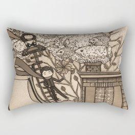 Adventure (in sepia) Rectangular Pillow