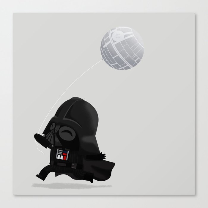 Beware, the Darth Star Canvas Print