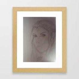 Elf Girl Framed Art Print