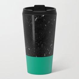 Emerald Meets Black Marble #1 #decor #art #society6 Travel Mug