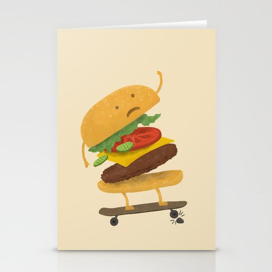 Burger Wipe-out Stationery Cards