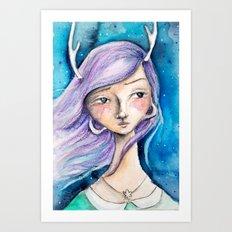 Lavendar Jane Art Print