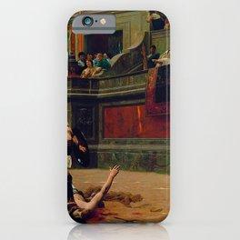 Jean-Leon Gerome - Pollice Verso - Digital Remastered Edition iPhone Case