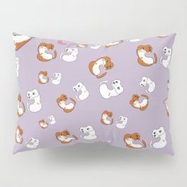 Mustelid pattern in Purple (c) 2017 Pillow Sham