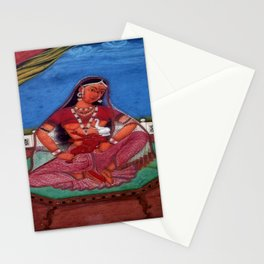 Deity Parvati With Her Son Ganesha Stationery Cards