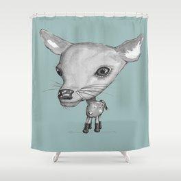 NORDIC ANIMAL - DEDE THE DEER  / ORIGINAL DANISH DESIGN bykazandholly  Shower Curtain