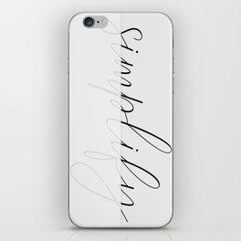 Art of simplicity iPhone Skin