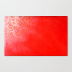 Feathering Red Canvas Print