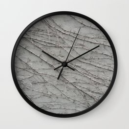 natural wall plant creeper foliage texture pattern Wall Clock