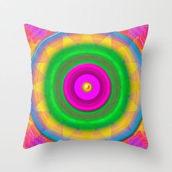 Sunshine and rainbows Throw Pillow