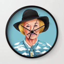Hipstory - Queen Beatrix of the Netherlands Wall Clock