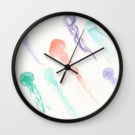 Jellyfish festival Wall Clock