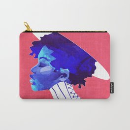 Woman in Blue Carry-All Pouch