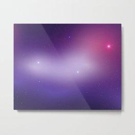 nebula, purple, glittera Metal Print