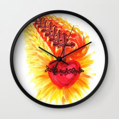 Sacred Heart, red Wall Clock