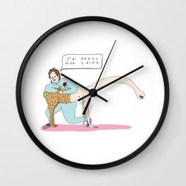 Francis Bacon le coiffeur Wall Clock