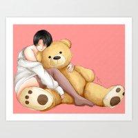 teddy bear Art Prints featuring Teddy by Sir-Snellby