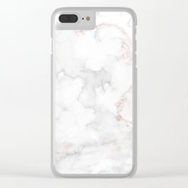 Luxury white and gray marble Clear iPhone Case
