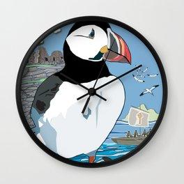 Puffins' Paradise Wall Clock
