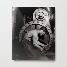 The Steamfitter, 1921. Vintage Photo Metal Print