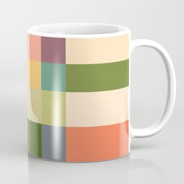 Vintage Checkered Pattern Coffee Mug