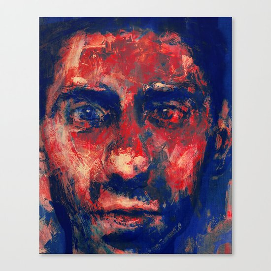 Face in Saturated Color's 4 Canvas Print