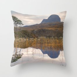 Suilven at Sunrise Throw Pillow