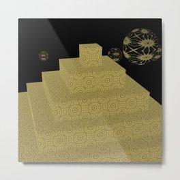 Pyramide Grotesque 27 Metal Print