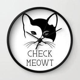 Meowt - Funny cat Wall Clock